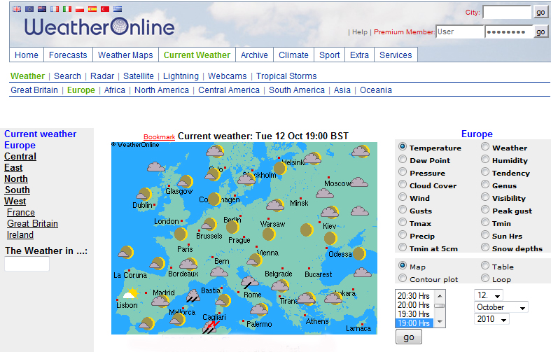 Weather on-line
